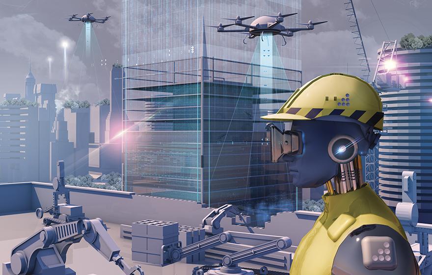 الذكاء الاصطناعى فى عالم التشييد والبناء